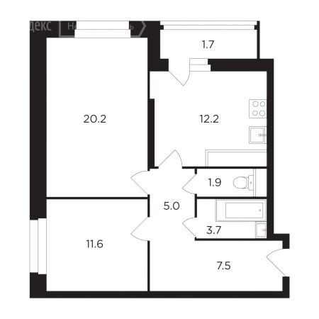 2-комнатная квартира в ЖК Петра Алексеева